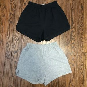 2 pack Soffe shorts size L